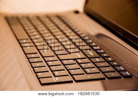 Closeup Of A Notebook Keyboard