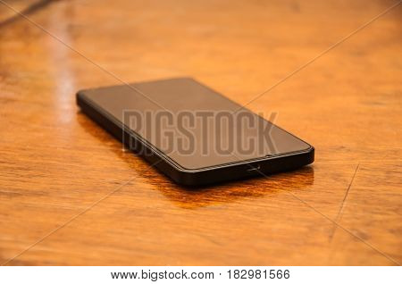 Cell Phone On A Table