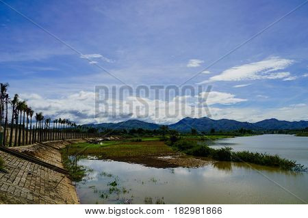 Vietnam countryside landscape with river - South East Asia