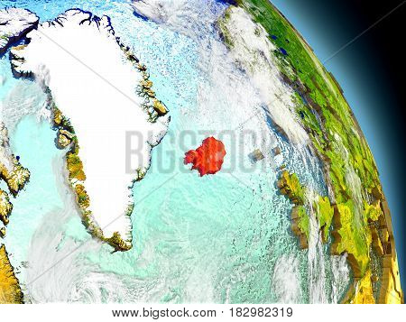 Iceland From Space