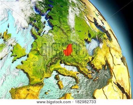 Hungary From Space