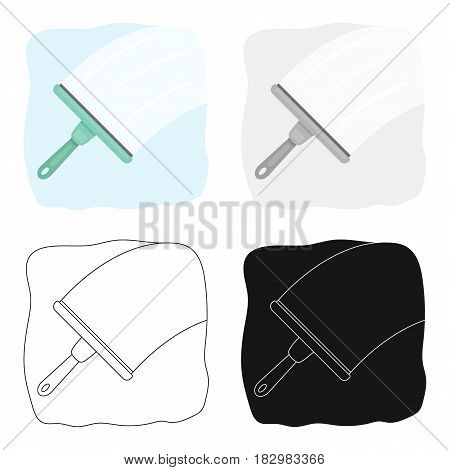Squeegee icon in cartoon design isolated on white background. Cleaning symbol stock vector illustration.