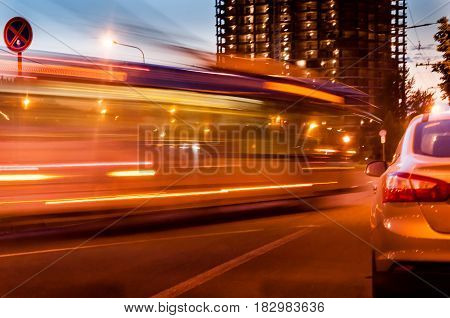 A Blurred Bus