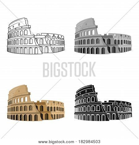 Colosseum in Italy icon in cartoon design isolated on white background. Countries symbol vector illustration.