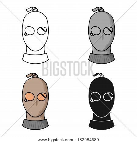 Thief icon in cartoon style isolated on white background. Crime symbol vector illustration.