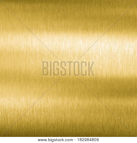 Golden brushed metal texture or background