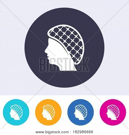 Single vector round hairnets must be worn icon