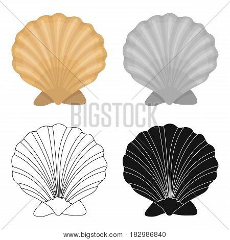 Prehistoric seashell icon in cartoon design isolated on white background. Dinosaurs and prehistoric symbol stock vector illustration.