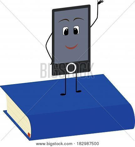 Books end ebooks concept. Vector illustration isolated on white