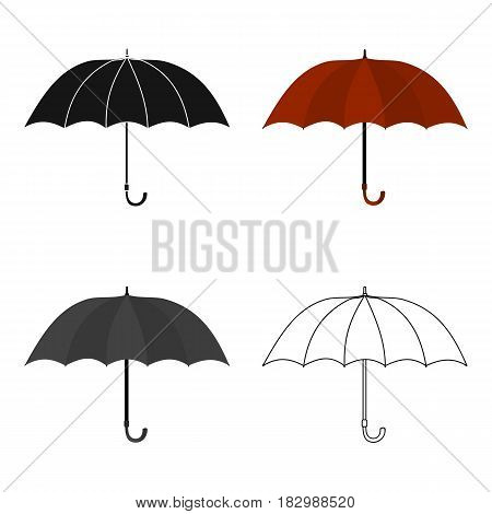 Umbrella icon in cartoon style isolated on white background. England country symbol vector illustration.