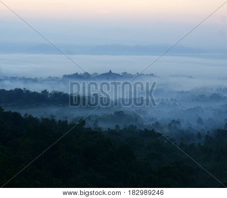 Setumbu Hill (in indonesia: punthuk setumbu) is the name of a hillside situated around 4 km west of Borobudur temple.  Most of people knew this hill as Nirvana Borobudur Sunrise Punthuk Setumbu.