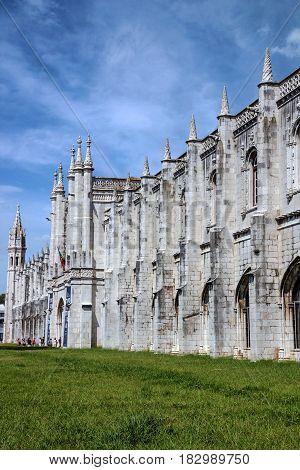 Monastery of Jeronimos in Lisbon city, Portugal