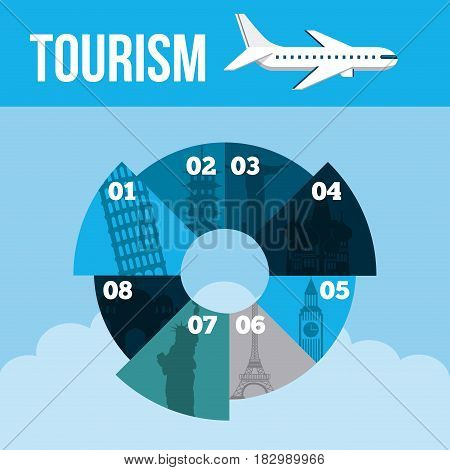 travel and tourism infographic presentation with numbers design. vector illustraiton