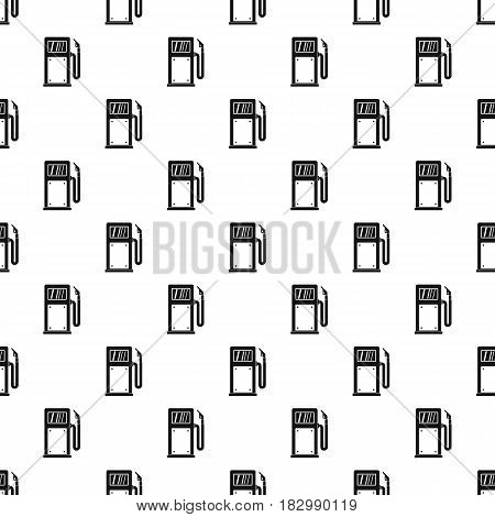 Gasoline pump pattern seamless in simple style vector illustration