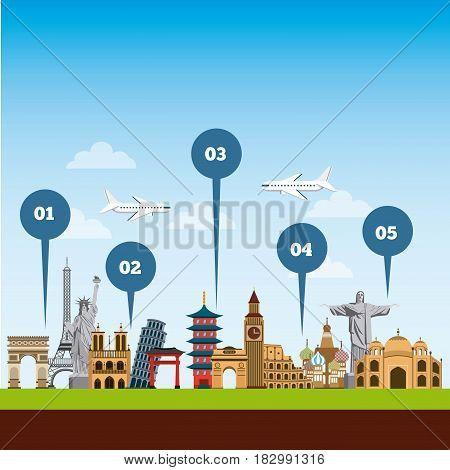 travel and tourism design. vector illustraiton vacation