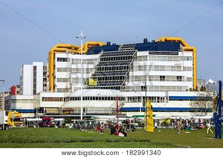 Rotterdam, Netherlands - April 18, 2017: Building of Rotterdam bibliotheque