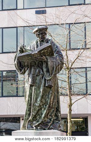 Monument to Erasmus of Rotterdam Netherlands (Desiderius Erasmus Roterodamus)