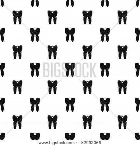 Human tooth pattern seamless in simple style vector illustration