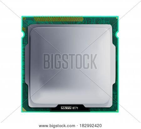 Computer Processors Cpu High Resolution 3D Render No Shadow