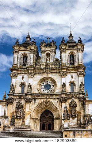 Church Alcobaca monastery is a Mediaeval Roman Catholic Monastery, Portugal