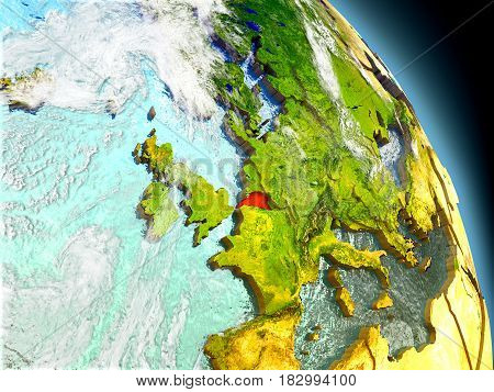 Belgium From Space