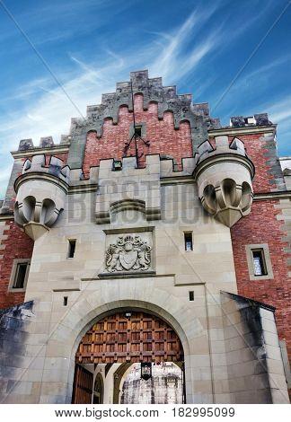 Bavarian palace in Castle Neuschwanstein, Bavaria, Germany