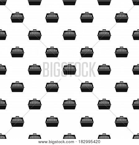Pet carry case pattern seamless in simple style vector illustration