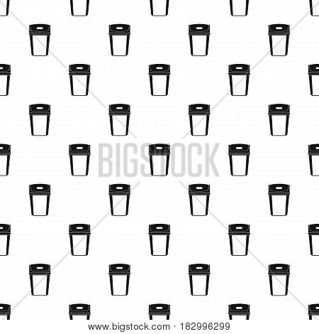 Big trashcan pattern seamless in simple style vector illustration