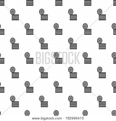 Tincan pattern seamless in simple style vector illustration
