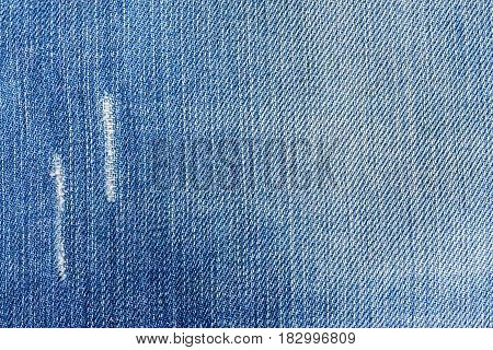 a Jeans close-up texture torn mopped pieces