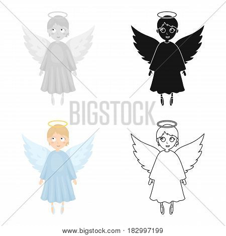 Soul icon in cartoon design isolated on white background. Funeral ceremony symbol stock vector illustration.