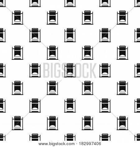 Swinging trashcan pattern seamless in simple style vector illustration