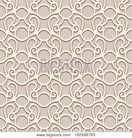 Vintage lace background, seamless pattern in neutral color