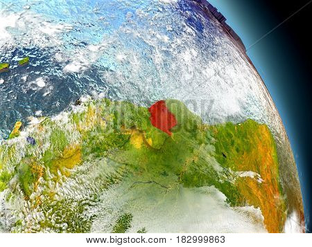 Suriname From Space