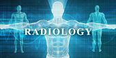 Radiology as a Medical Specialty Field or Department 3D Illustration Render poster