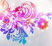 Floral Background design. Vector Eps10 poster