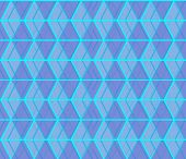 Seamless abstract background formed from overlapping trapezoids poster