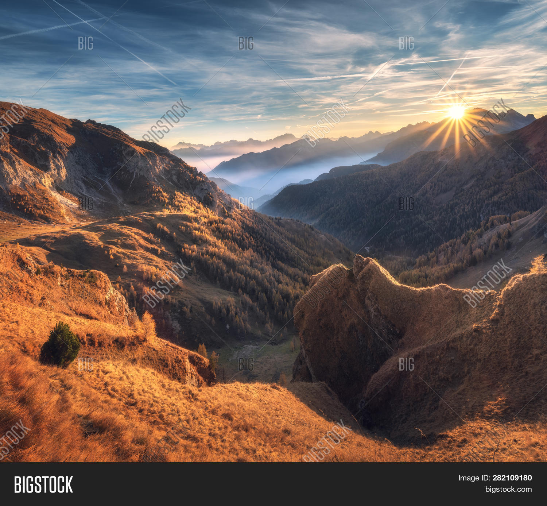 Mountains Fog Image Photo Free Trial Bigstock