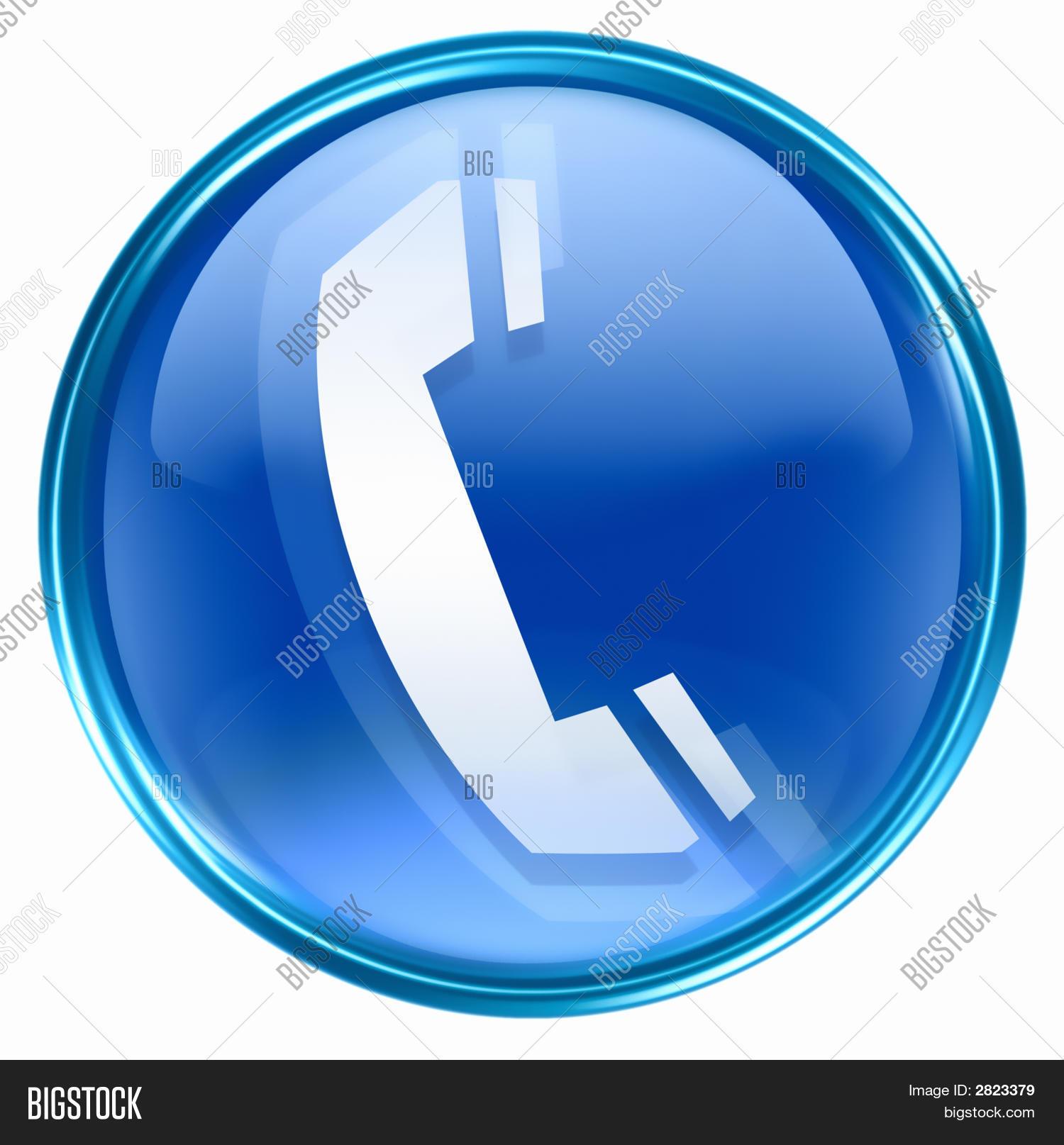 Phone Icon Blue Image & Photo (Free Trial) | Bigstock