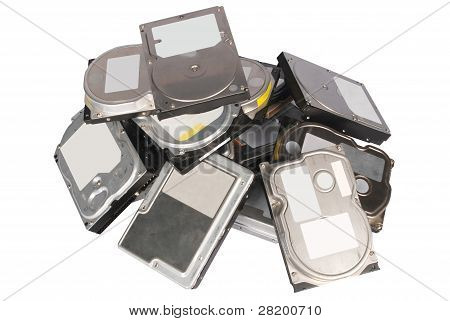 Big Pile Hard Drives