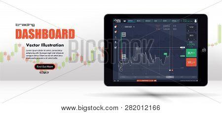 Market Trade. Binary Option. Trading Platform, Account. Press Call And Win Transaction. Money Making