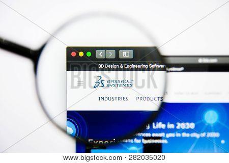 Los Angeles, California, Usa - 25 January 2019: Dassault Systemes Website Homepage. Dassault Systeme