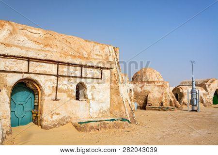 Old Movie Set In The Ong Jemel Desert Near Tozeur, Tunisia
