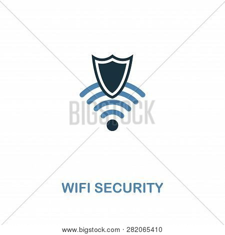 Wifi Security Icon In 2 Colors Style Design. Premium Symbol From Security Icons Collection. Pixel Pe