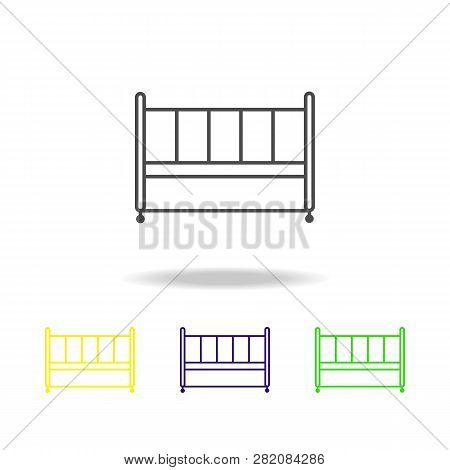 crib, cot, bed icon. Can be used for web, logo, mobile app, UI, UX poster