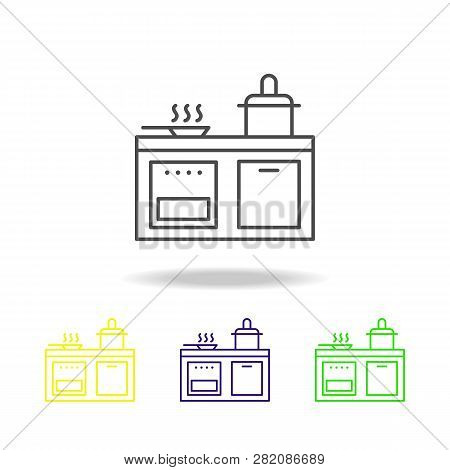Kitchen, Cooker, Pan, Stewpot Icon. Can Be Used For Web, Logo, Mobile App, Ui, Ux
