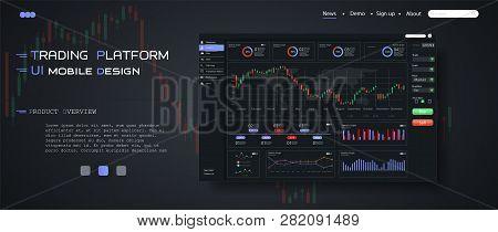 Market Trade. Binary Option. Trading Platform, Account. Press Buy And Sell Transaction. Money Making
