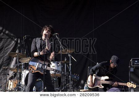 CLARK, NJ - SEPTEMBER 11: Frontman / Guitarist Jesse Malin & The St Marks Social perform at the Union County Music Fest on September 11, 2010 in Clark, NJ.