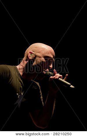 CLARK, NJ - 16 Eylül: Ed Kowalczyk 16 Eylül, 2011 c Union County Music Fest gerçekleştirir