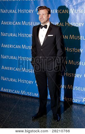 NEW YORK - NOV 10: Saturday Night Live cast member Jason Sudeikis attends the American Museum of Natural History's  2011 Gala on November 10, 2011 in New York City, NY.